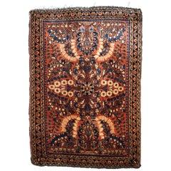 Handmade Antique Sarouk Style Rug, 1920s, 1B817