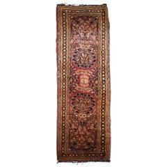 Handmade Antique Sarouk Style Rug, 1920s, 1B820