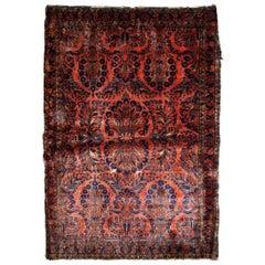 Handmade Antique Sarouk Style Rug, 1920s, 1B829