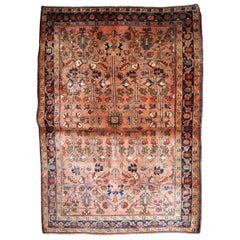 Handmade Antique Sarouk Style Rug, 1920s, 1B835