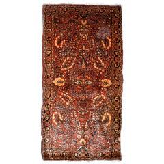 Handmade Antique Sarouk Style Rug, 1920s, 1B841