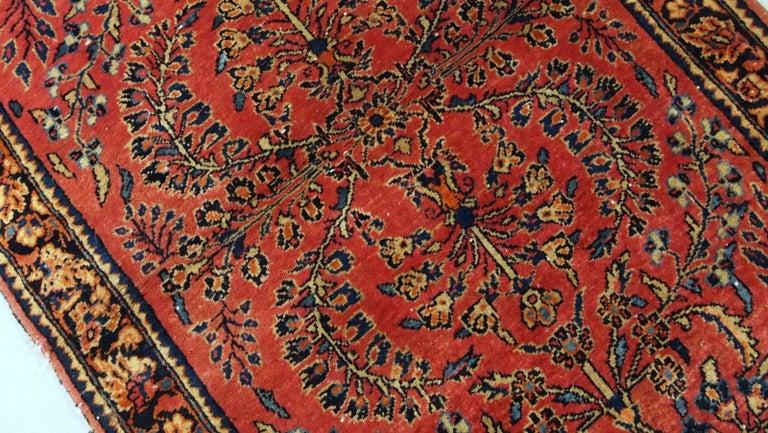 Handmade Antique Sarouk Style Runner, 1900s, 1B708 For Sale 2