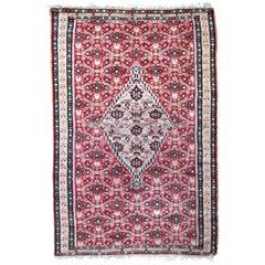 Handmade Antique Senneh Style Kilim, 1920s, 1P07