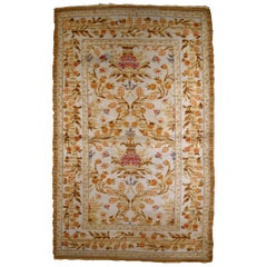 Handmade Antique Spanish Savonnerie Rug, 1920s, 1B811