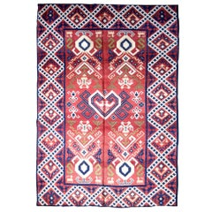 Handmade Antique Spanish Savonnerie Rug, 1930s, 1P55