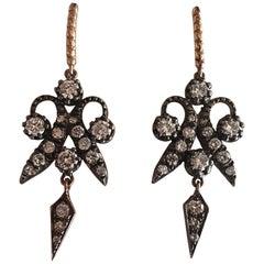 Handmade Antique Style Diamond Earrings