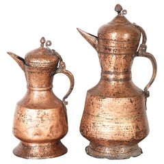 Handmade Antique Tibetan Ceremonial Holy Water Vessels