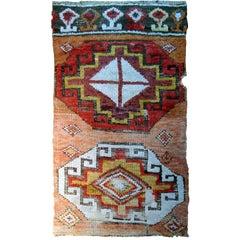 Handmade Antique Turkish Konya Collectible Fragment, 1760s, 1B588