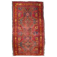 Handmade Antique Turkish Oushak Rug, 1870s, 1Q0278
