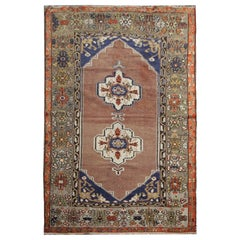 Handmade Antique Turkish Rug, High-Quality Traditional Wool Living Room Rug