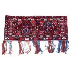 Handmade Antique Turkmen Yomud Torba Bag, 1900s, 1P93