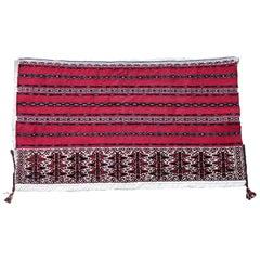 Handmade Antique Turkmen Yomud Torba Bag, 1930s, 1P88