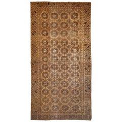 Handmade Antique Uzbek Khotan Rug, 1900s