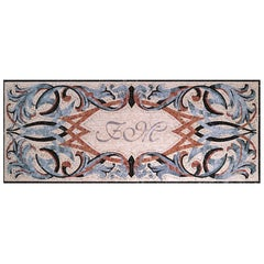 Handmade Artistic Marble Mosaic Rug Dimension and Colors Customizable