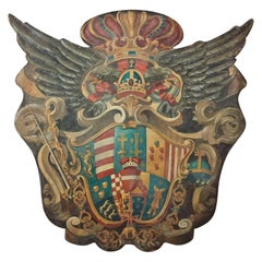 Handmade Baronial Crest Plaque on Solid Wood