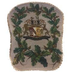 Handmade Beaded Family Crest Textile