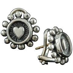 Handmade Beaded Heart Earrings
