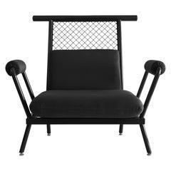 Handmade Black PK6 Armchair Carbon Steel Structure & Metal Mesh by Paulo Kobylka