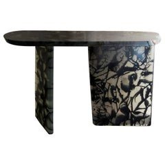 Handmade Black Resin Console