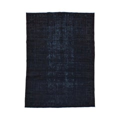 Handmade Block Design Persian Bakhtiar Overdyed Vintage Rug