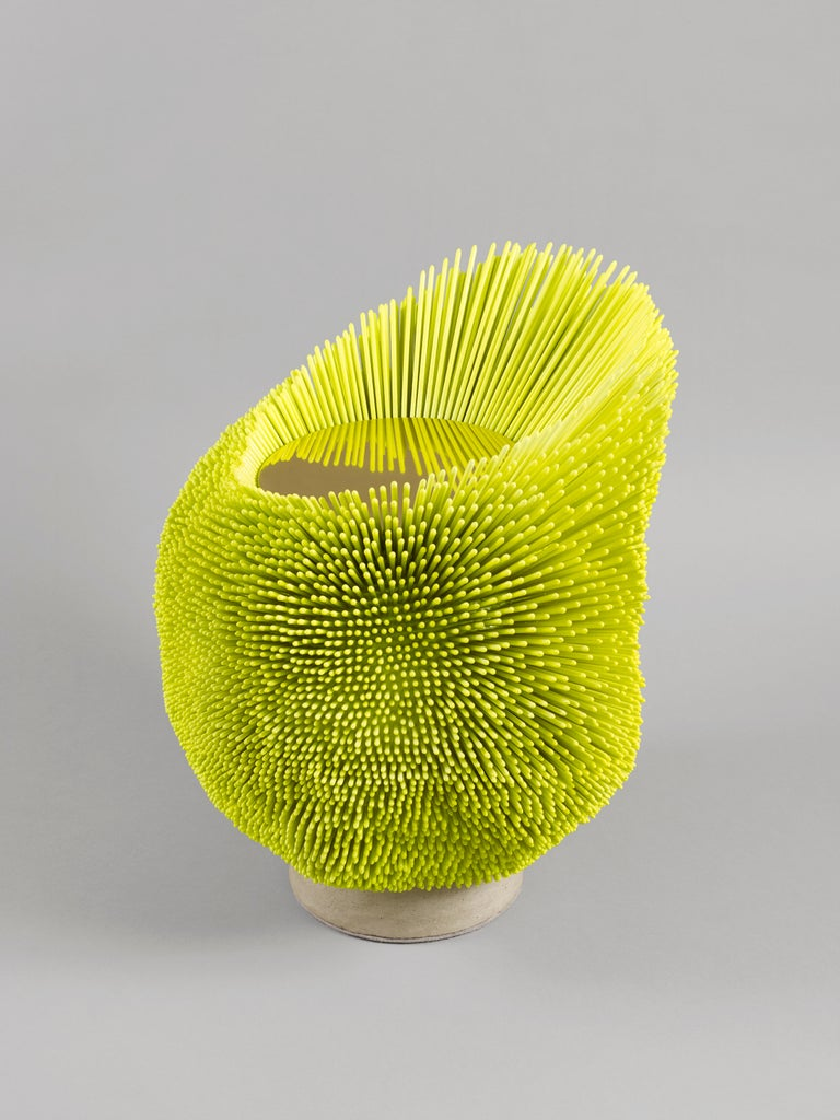 German Bright Yellow 'Sea Anemone' Side Table by Pia Maria Raeder   For Sale