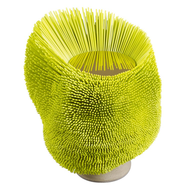 Bright Yellow 'Sea Anemone' Side Table by Pia Maria Raeder   For Sale