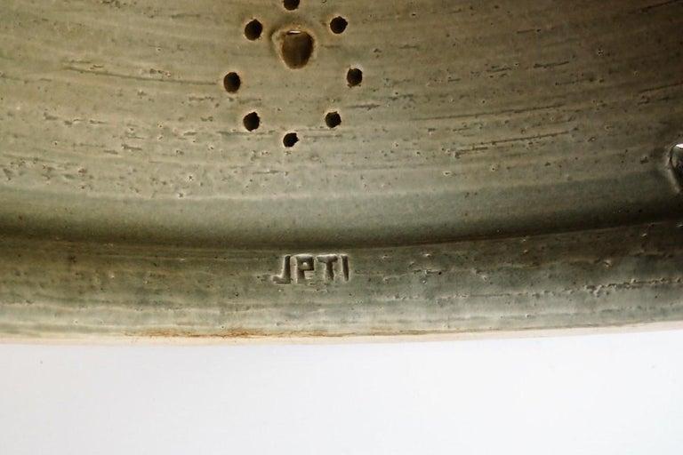 Handmade Brown Glazed Ceramic Pendant from Danish Jeti, Chris Haslev, 1970s For Sale 4