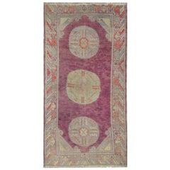 Handmade Carpet Antique Rug Central Asian Khotan Rug, 1930