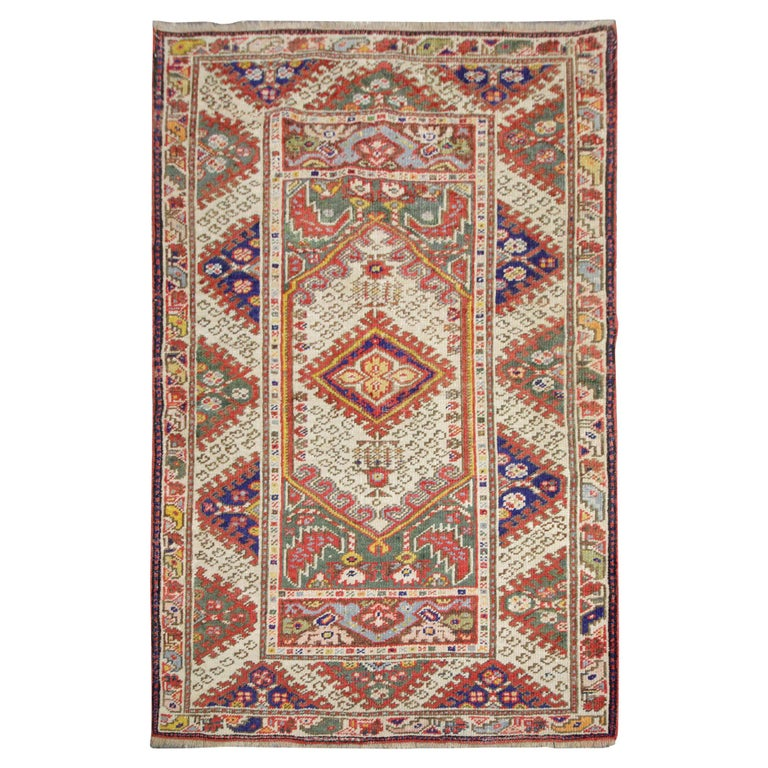 Handmade Carpet Antique Rugs Tribal Living Room Rug, Traditional Red Wool  Rug For Sale at 1stDibs