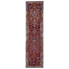 Handmade Carpet Antique Rugs Turkish Kilim Runner, Stair Runners Oriental Rugs