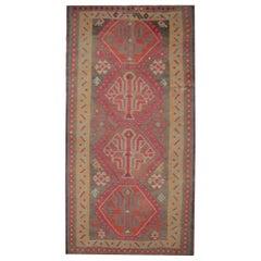 Handmade Carpet Caucasian Kilim Rug, Vintage Kilims Tribal Wool Rug