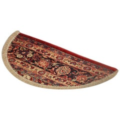 Handmade Carpet Entrance Way Mat, Oriental Rug Semicircle Door Mat for Interior