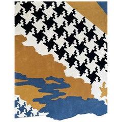 Handmade Carpet French Riviera Made of New Zealand Wool