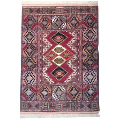 Handmade Carpet Geometric Rug, Oriental Wool Area Rug for Sale