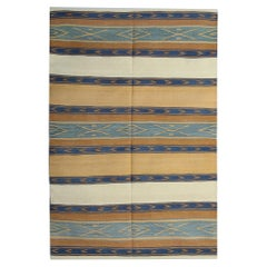 Handmade Carpet Kilim Rugs, Modern Striped Rug Geometric Kilims Sale