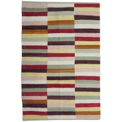 Handmade Carpet Modern Striped Kilim Rugs Oriental Kilim Rugs
