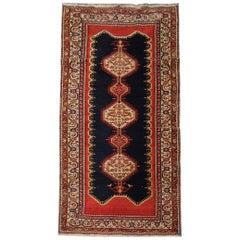 Handmade Carpet Oriental Antique Rug, Red Wool Caucasian Carpet for Sale