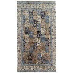 Handmade Carpet Oriental Cream Rug, Vintage Area Rug