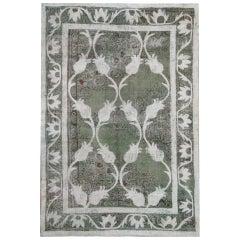 Handmade Carpet Oriental Rug Grey Vintage Turkish