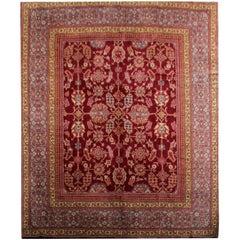Handmade Carpet Rare Antique Rugs, English Ax Minster Art Deco Rug