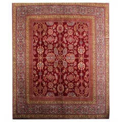Handmade Carpet Rare Antique Rugs, English Axminster Art Deco Rug