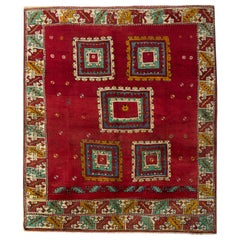 Handmade Carpet Red Antique Rug Oriental Turkish Rug Primitive Living Room Rug
