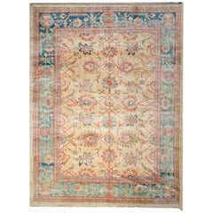Handmade Carpet Rug Oriental Ziegler Style Rugs, Tradition Large Living Room Rug