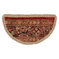 Handmade Carpet, Semicircle Entrance Mat, Vintage Oriental Rug Door Mat for Sale