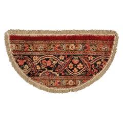 Handmade Carpet, Semicircle Entrance Mat, Vintage Oriental Rug Door Mat for Sale