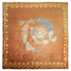 Handmade Carpet, Square Chinese Rug Oriental Rug, Antique Rug Wool Carpet