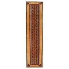 Handmade Carpet Traditional Kazak Rug Runner Rug Red Wool Rug