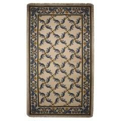 Handmade Carpet Traditional Symmetrical Portuguese Needlepoint Rug
