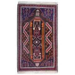 Handmade Carpet Tribal Oriental Rug, Traditional Rustic Carpet Rug