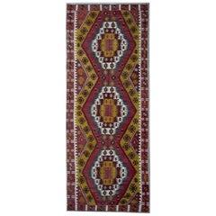 Handmade Carpet Turkish Kilim Rugs, Antique Runner Rug, Gold Rug Stair Runner